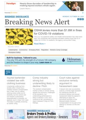 Workers Comp Breaking News Alert